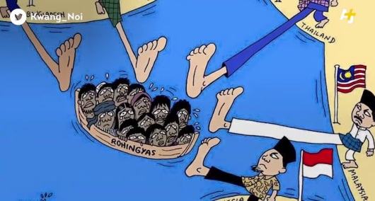 indonesian refugees cartoon