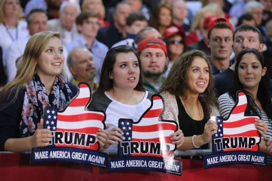 Donald Trump Holds Campaign Rally In Richmond, VA